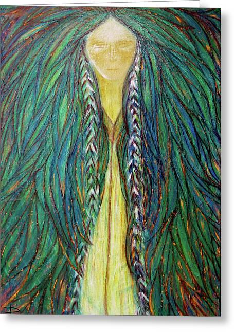 Goddess Pastels Greeting Cards - Sacred Teacher Greeting Card by NARI - Mother Earth Spirit
