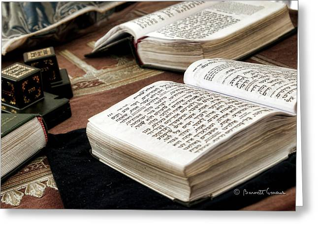 Hannukah Greeting Cards - Sacred Words Greeting Card by Starlite Studio