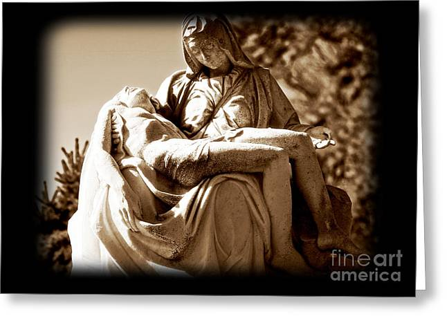 Headstones Greeting Cards - Sacrifice Greeting Card by John Rizzuto