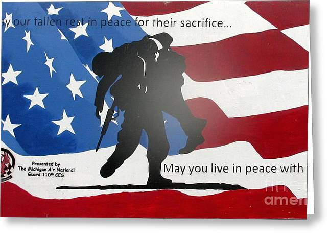 Ptsd Greeting Cards - Sacrifice Greeting Card by Unknown