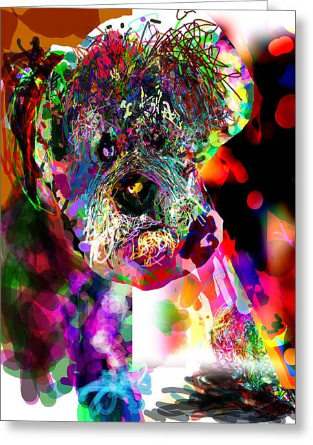 Cut-outs Digital Art Greeting Cards - Sad Dog Greeting Card by James Thomas