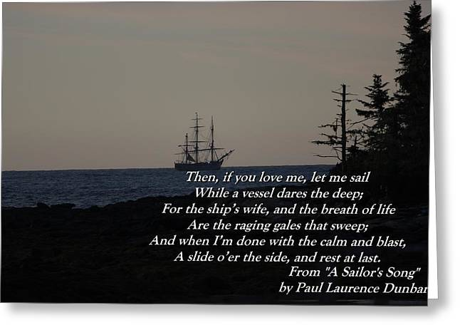 Tall Ships On Water Greeting Cards - Sad Farewell Greeting Card by Rick  Blood