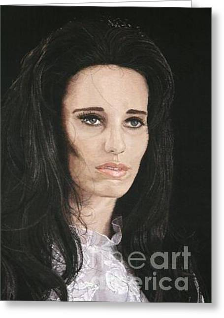 Missing Tapestries - Textiles Greeting Cards - Sad Lady Greeting Card by Praveen