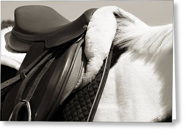 Saddle Digital Art Greeting Cards - Saddle and Softness Greeting Card by Marilyn Hunt