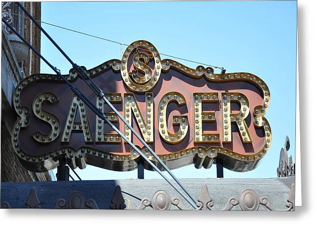 Saenger Greeting Cards - Saenger Theater Greeting Card by David Dittmann