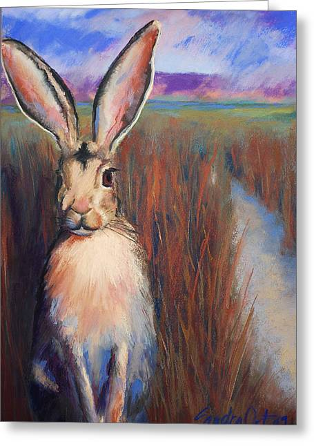 Rabbit Pastels Greeting Cards - Safe for the Moment Greeting Card by Sandra Ortega