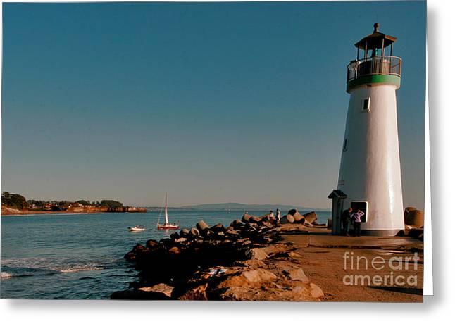 Santa Cruz Ca Digital Art Greeting Cards - Safe Harbor Greeting Card by David Taylor