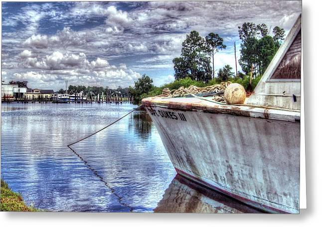 Crimson Tide Greeting Cards - Safe Harbor Duke 111 Greeting Card by Michael Thomas
