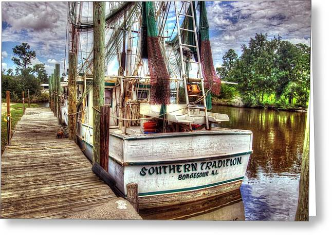 Crimson Tide Greeting Cards - Safe Harbor Southern Tradition Greeting Card by Michael Thomas