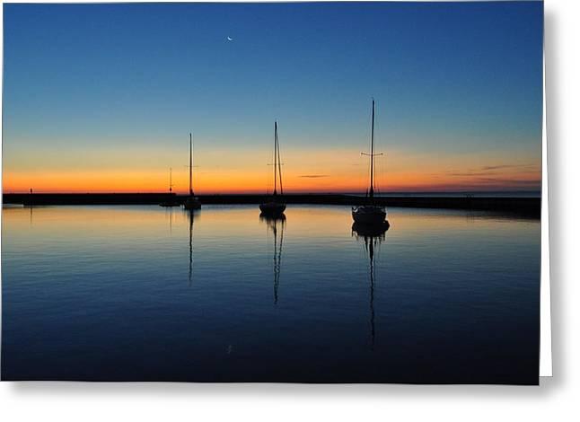 Safe Harbor Greeting Card by Steve Goddard