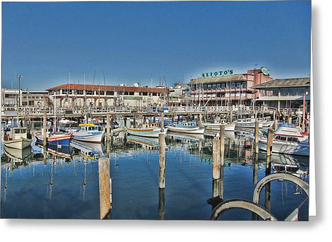Fishermen Wharf Greeting Cards - Safe Haven for Yachts Greeting Card by Douglas Barnard