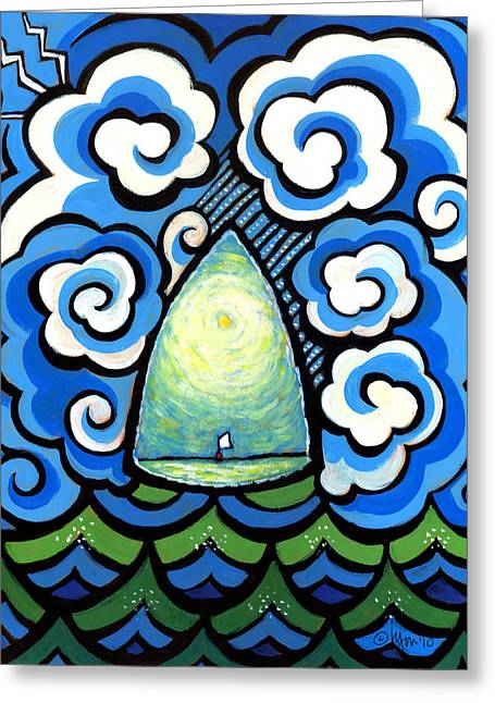 Ocean Artist Greeting Cards - Safe in the Center with You Greeting Card by Angela Treat Lyon