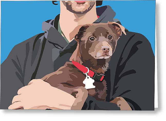 Terrier Digital Greeting Cards - Safe Place Greeting Card by Kris Hackleman