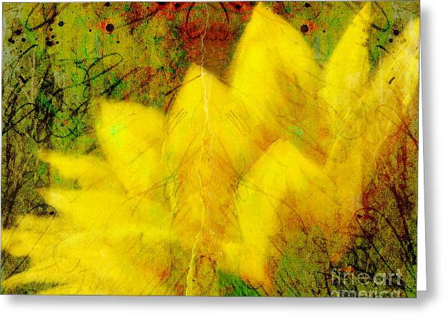 Manipulated Photography Greeting Cards - Saffron Dream Greeting Card by Ann Powell