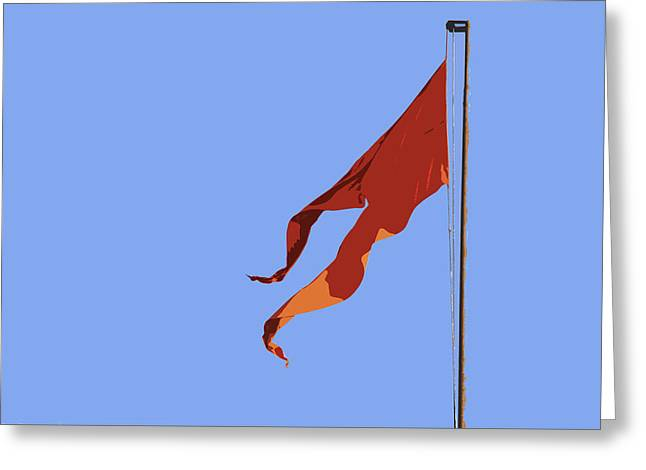 Geometry In Orange Greeting Cards - Saffron Flag Greeting Card by Kantilal Patel