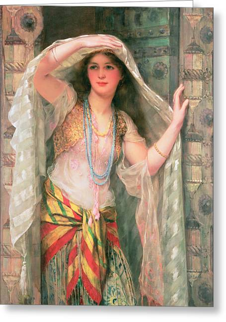 Doorway Greeting Cards - Safie Greeting Card by William Clark Wontner