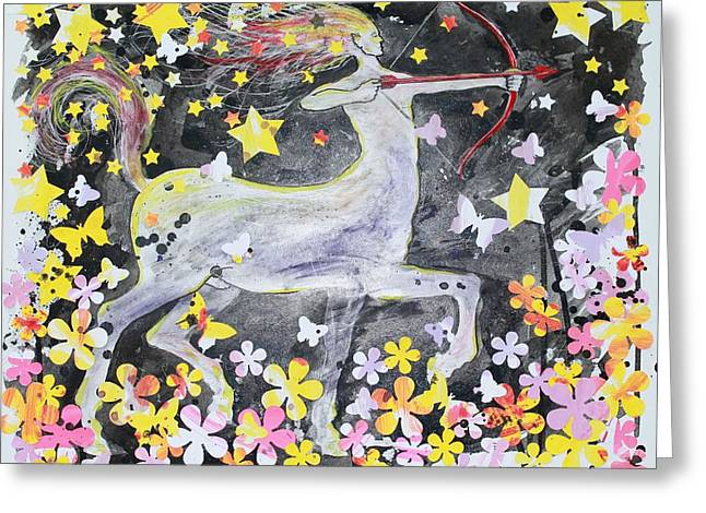 sagittarius Greeting Card by Glenn Boyles