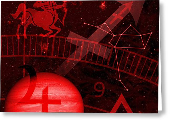 Constellations Digital Greeting Cards - Sagittarius Greeting Card by JP Rhea