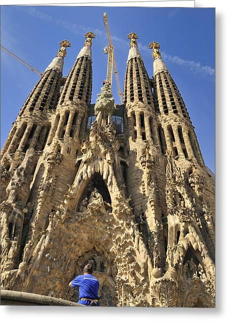 Sagrada Familia Barcelona Spain Greeting Card by Matthias Hauser