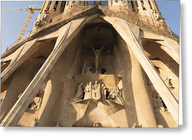 Sagrada Familia church in Barcelona Antoni Gaudi Greeting Card by Matthias Hauser