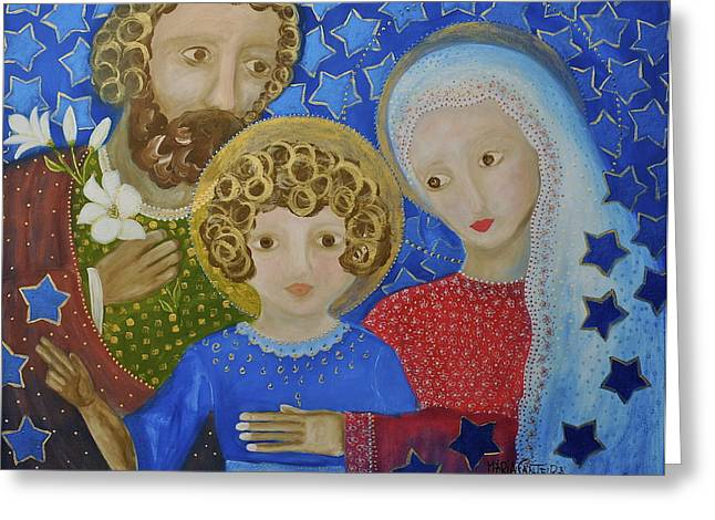Sagrada Familia Greeting Card by Maria Matheus Maria Santeira