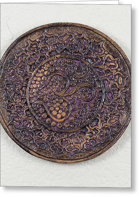 Jamie Ceramics Greeting Cards - Sahasrara Crown Chakra Plate Greeting Card by Jaimie Gunn