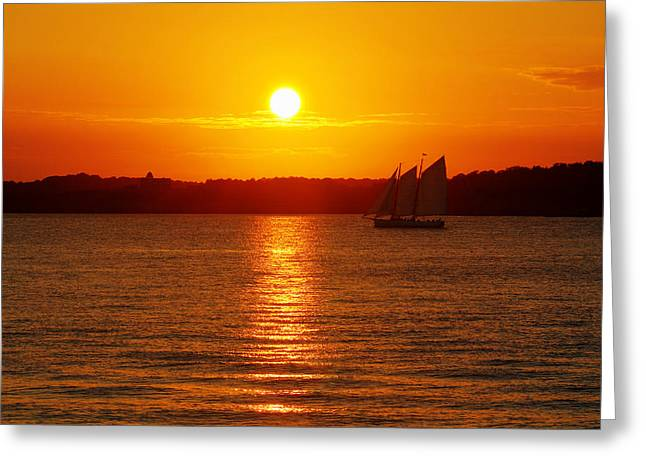 Sailer Greeting Cards - Sail Off Into The Sunset Greeting Card by Andrew Pacheco