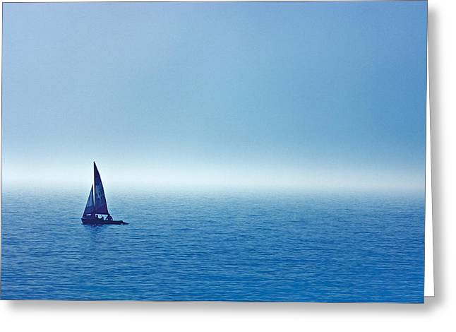 Person Of Color Greeting Cards - Sailboat On The Water, Wahnekewaning Greeting Card by Mike Grandmailson