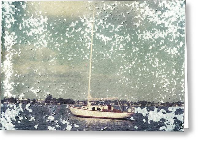 Sailboat Images Greeting Cards - Sailboat Greeting Card by Patrick M Lynch