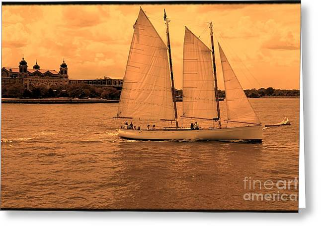 Sailboat Images Greeting Cards - Sailboat Greeting Card by Sophie Vigneault