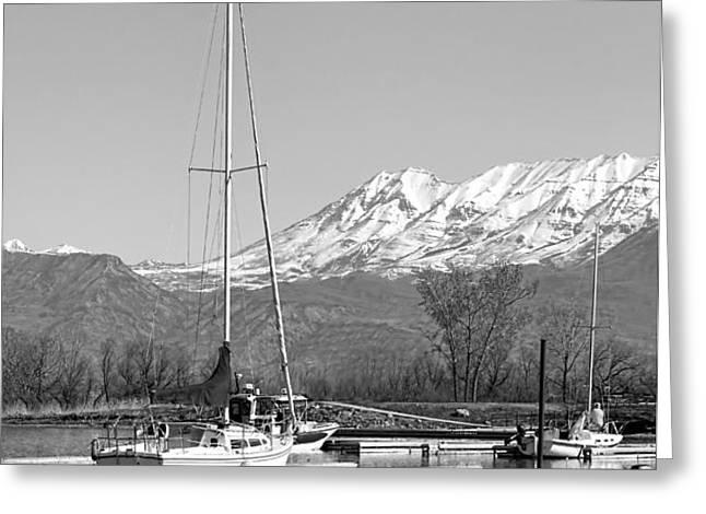 Sailboats At Utah Lake State Park Greeting Card by Tracie Kaska