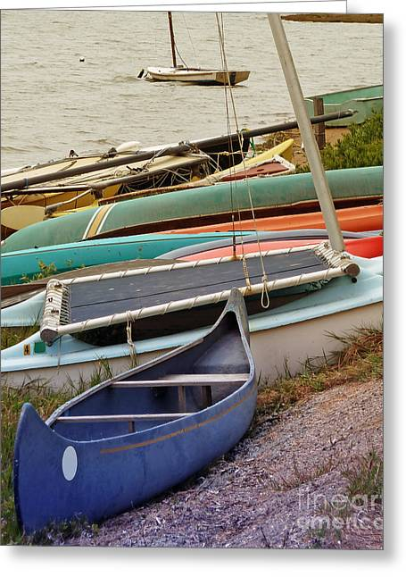 Sailboat Art Greeting Cards - Sailboats Greeting Card by Methune Hively
