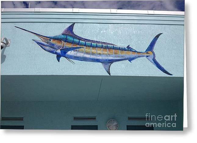 Swordfish Greeting Cards - Sailfish Splash Park 1 Greeting Card by Carey Chen