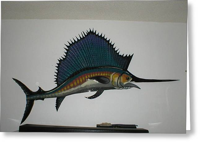 Sailfish Greeting Card by VAL OCONNOR