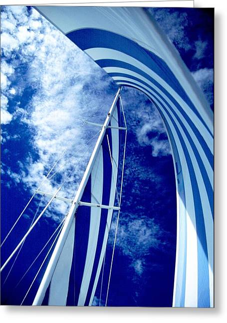 Wind In The Sails Greeting Cards - Sailing Along Greeting Card by John Foote