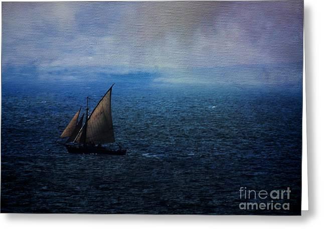 Sailing Away Greeting Card by Karen Lewis