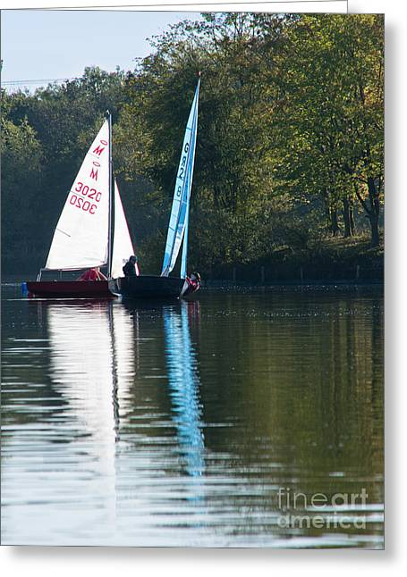 Sailing Boats Greeting Card by Andrew  Michael