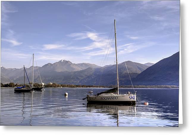 sailing boats Greeting Card by Joana Kruse