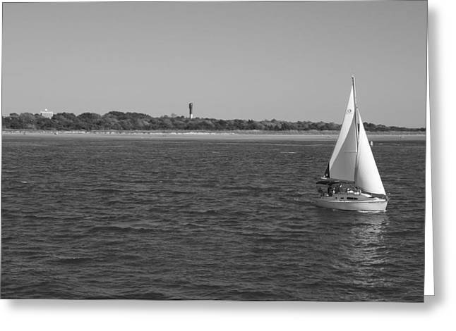 Bonnes Eyes Fine Art Photography Greeting Cards - Sailing From The LIght Greeting Card by Bonnes Eyes Fine Art Photography
