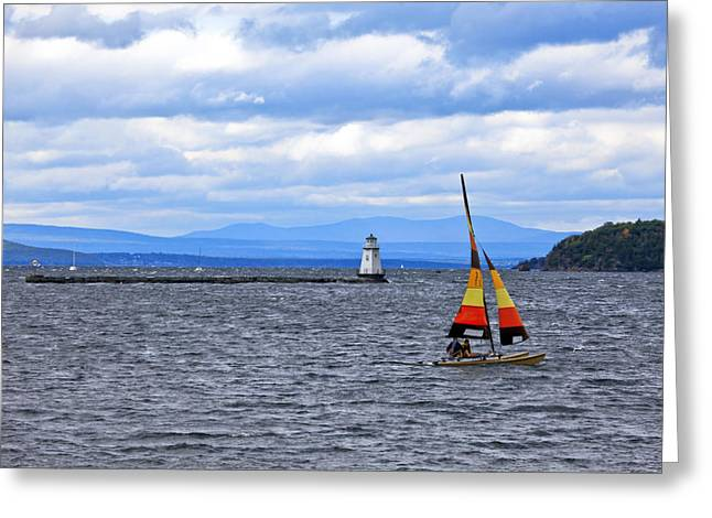 Sking Greeting Cards - Sailing In Vermont Greeting Card by James Steele