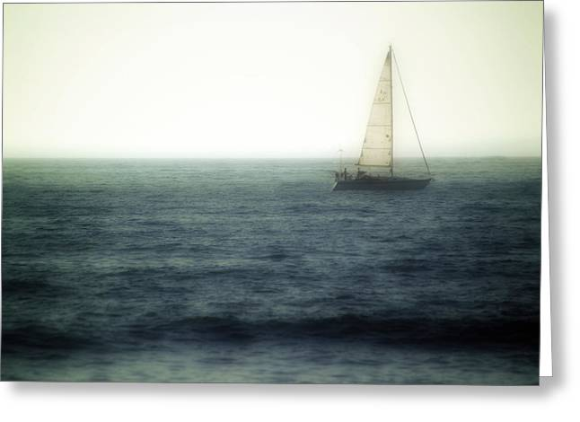 Sailboat Ocean Greeting Cards - Sailing Greeting Card by Lyle  Huisken