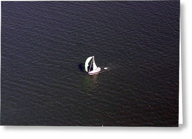 Wind In The Sails Greeting Cards - Sailing Narragansett Bay Greeting Card by Duncan Pearson