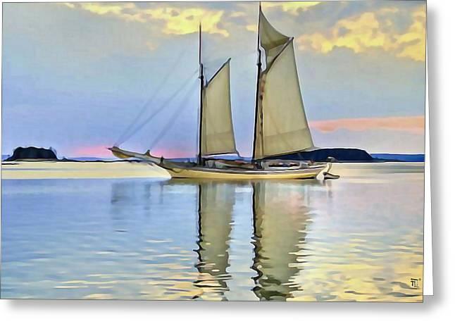 Fli Greeting Cards - Sailing Sailin Away yay yay yay Greeting Card by  Fli Art