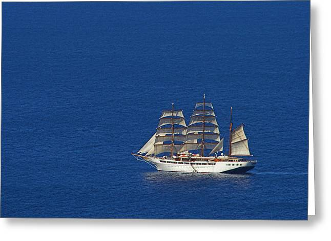 Small Forward Greeting Cards - Sailing Ship- St Lucia Greeting Card by Chester Williams