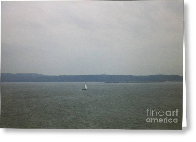 Thomas Luca Greeting Cards - Sailing the Barnegat Greeting Card by Thomas Luca