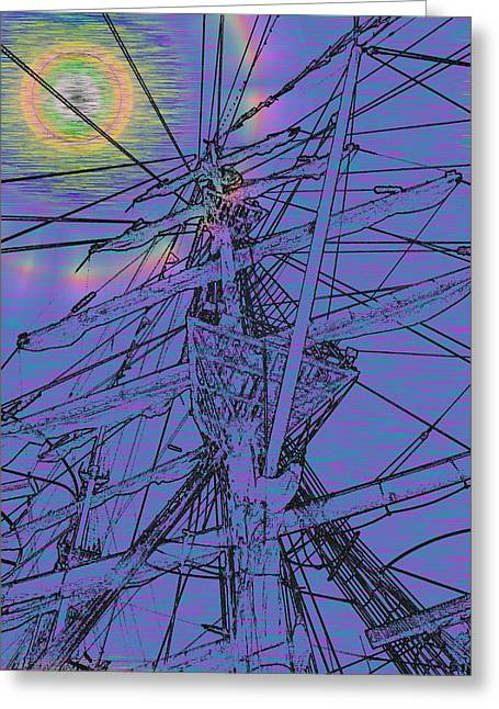 Yellow Sailboats Greeting Cards - Sailors Beck And Call ll Greeting Card by Tim Allen