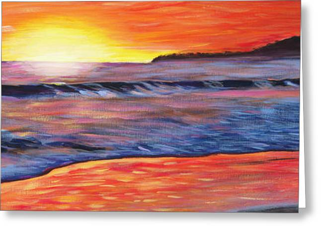 Sunset Prints Greeting Cards - Sailors Delight Greeting Card by Anne West