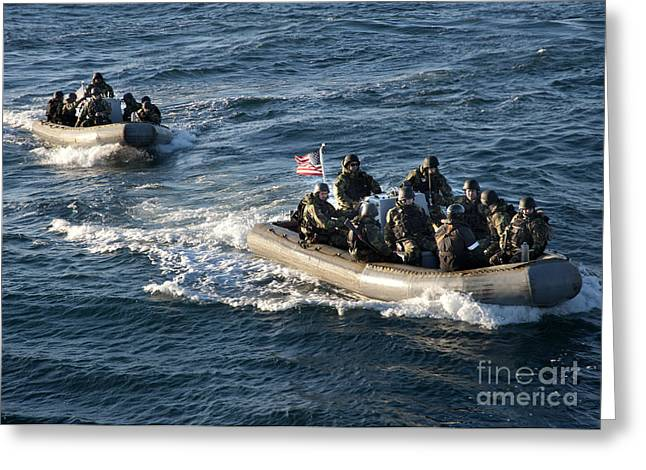 Inflatable Greeting Cards - Sailors Participate In A Visit, Board Greeting Card by Stocktrek Images