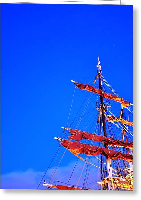Malmo Digital Art Greeting Cards - Sails Greeting Card by Barry R Jones Jr