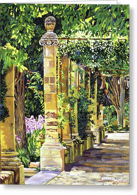 Abbey Greeting Cards - Saint-Andre Abbey France Greeting Card by David Lloyd Glover